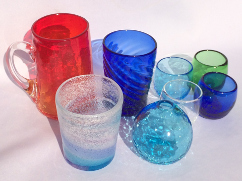 ガラス作り体験メニュ
